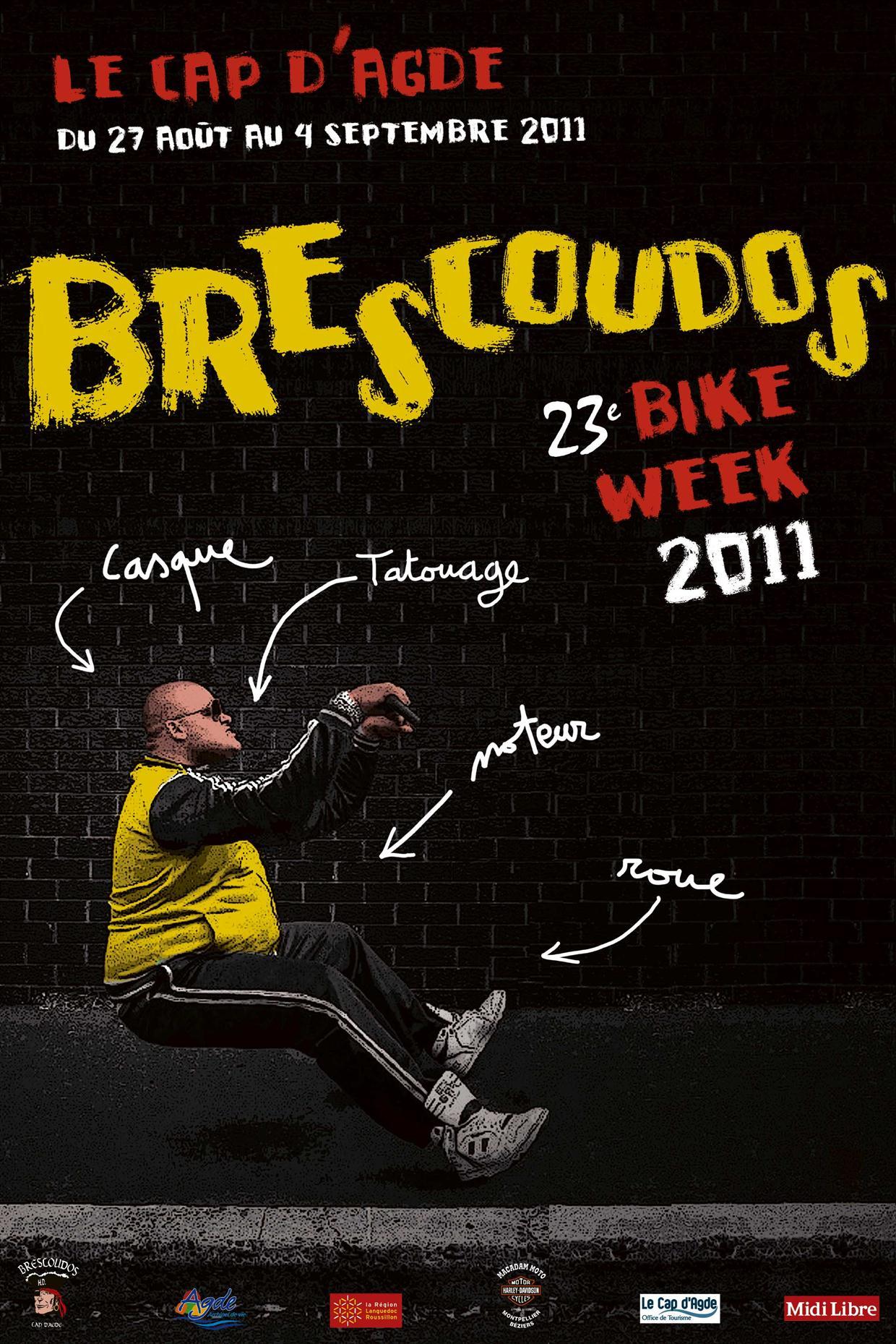 Affiche de la 23ème Brescoudos Bike Week