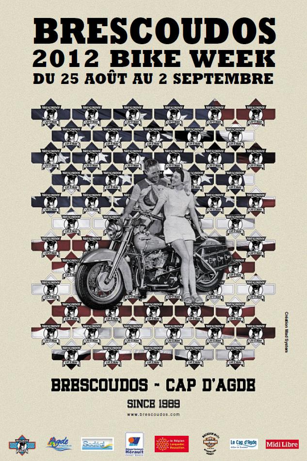 Présentation de l'affiche de la 24ème Brescoudos Bike Week