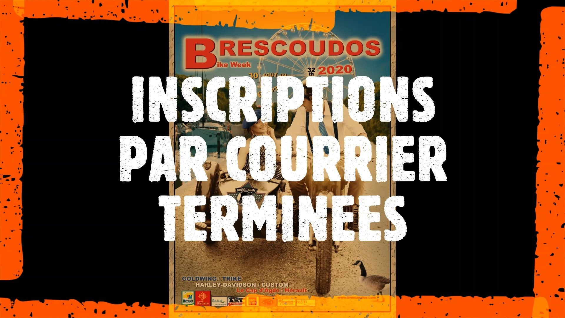 INSCRIPTIONS PAR COURRIER TERMINÉES